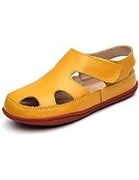 02c433ae0 ARAUS Sandalias Zapatos Niños Niñas Punta Cerrada Calzado de Cuero Planas  de ...