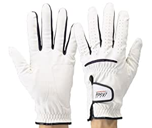 L.A. Golf Men's Golf Glove - White, L