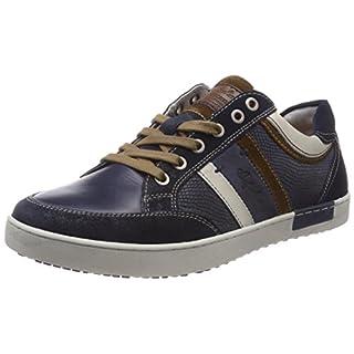 Australian Herren Mellow Leather Sneaker, Blau (Blue-Tan), 43 EU