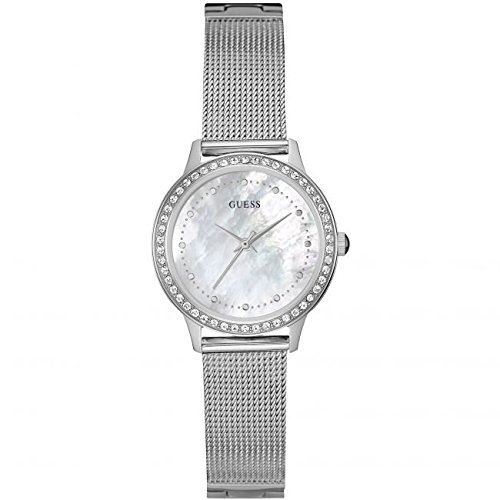 GUESS Women's Quartz Watch with Silver Dial Analogue Display and Silver Stainless Steel Bracelet W0647L1