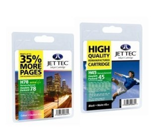 2 Haute Capacité Cartouches d'encre Compatibles pour Imprimante HP Deskjet 930C , Noir et Tri-Couleur