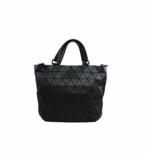 Preisvergleich Produktbild Einfache Mode Trend Dreieck Film Geometrische Paket Schulter Schräge Kreuz Handtasche , schwarz