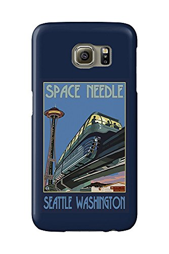 Seattle, Washington - Space Needle and Monorail (Galaxy S6 Cell Phone Case, Slim Barely There) - Monorail, Space Needle