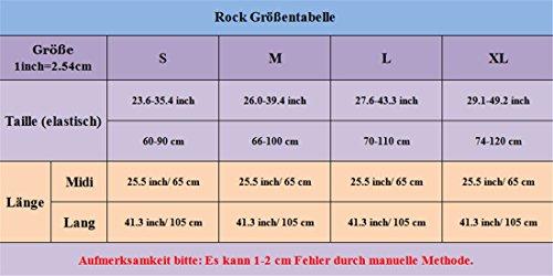 Omela Midi Lange Damen Tüllrock Unterrock Krinoline 5 Lagen Braun-midi(65cm/25.5inch)