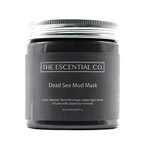 Totes Meer Maske 250g – Schlamm Gesichtsmaske & Anti-Aging-Maske, Pflege für trockene, fettige & unreine Haut für Damen & Herren – natürliche Reinigung gegen Pickel, Mitesser, Akne – The Escential Co.
