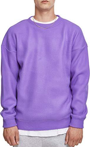 Urban Classics Herren Polar Fleece Crew Sweatshirt, Violett (Ultraviolet 01459), XL Classic Fleece Pullover Hoodie