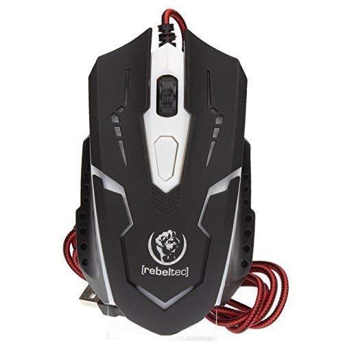 Optische PC Gaming Maus Cobra 2400 DPI mit Kabel Ergonomisch LED Beleuchtet Einstellbare DPI Breite Tasten für Laptop, Computer - Usb-maus Cobra