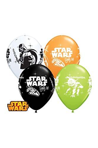 7342Star Wars Darth Vader und Yoda rund Besondere Sortiment Latex Luftballons, 12Zoll ()