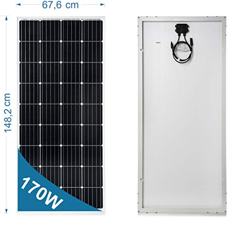 170 Watt 12 Volt Monokristalline Solarmodul