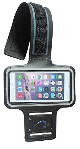 Besten Ipod Nano Armband (Handy Armband: eds2Schutzhülle Slim Running Sport Schweiß-Key Slot Fall Schwarz für iPhone 6S, 6, 5, 5S, 5C, 4, 4S,/iPod Nano Touch 3, 4, 5/Samsung Galaxy S6, S5, S4, Edge, HTC One, Schwarz)
