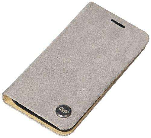 QIOTTI QX-B-0115-07-SGS6E Booklet Q.Book Carrier Premium Echtleder für Samsung Galaxy S6 Edge Grau