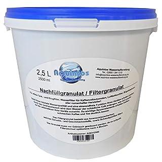 2,5 L Aquintos AQEH2500 Nachfüllgranulat - Filtergranulat - Teilentsalzungsharz - für offene Krug- und Tankfilter / alle Namhaften Kaffeemaschinen Hersteller / Tischwasserfilter / Bügelstationen / Luftbefeuchter / Wasserfilter / Filterpatronen / Filterkartuschen / Refill-Kartuschen / Nachfüllkartuschen / Kaffeemaschinenfilter