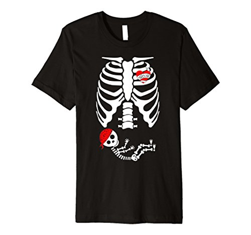 X-Ray Skelett Schwangere TShirt–Halloween Mom Kostüm Geschenk