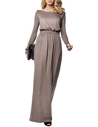 eid Jersey Lang Sommerkleid Strandkleid Maxikleid Hauskleid Basics (Sexy Toga Kleid)