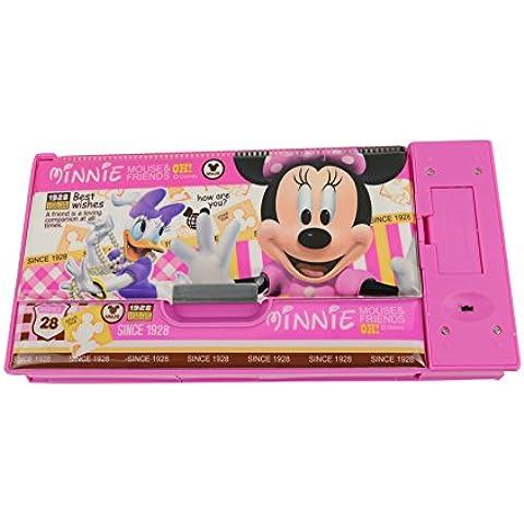 Disney Mickey Minnie Creative Multi-funcional Cajas lápiz / la caja de lápiz 83075-06 (Rosa)