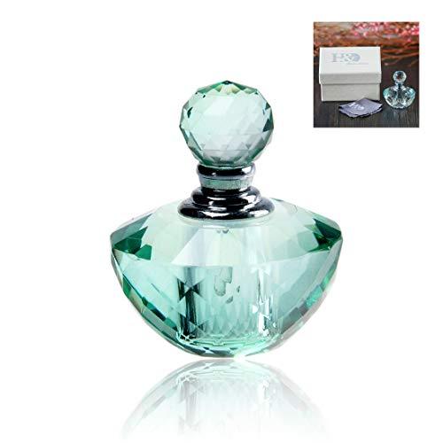 H&D Mini-Flasche für ätherisches Öl, Vintage-Stil, leer, nachfüllbar, 4 ml - Kristall Parfüm Duft Flasche