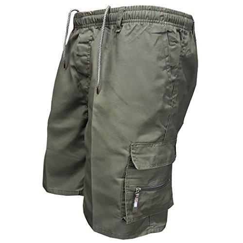 mioim homme Shorts de sport pantalon avec multi-poches short d'extérieur casual lâche d'été