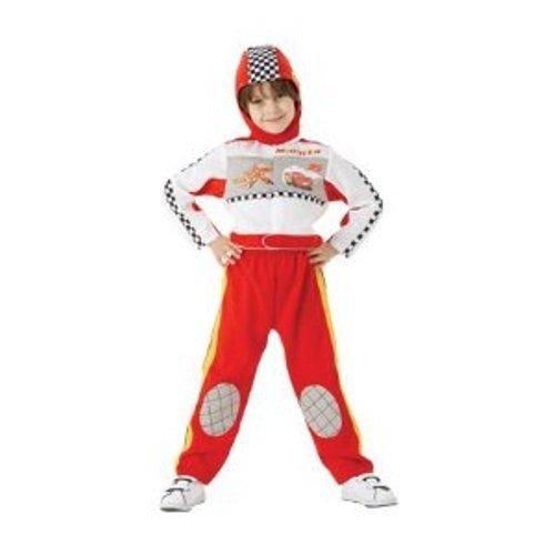 Imagen de rubbie's disney cars  disfraz de piloto de carreras del rayo mcqueen para niños