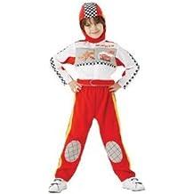 Rubbie's Disney Cars - Disfraz de piloto de carreras del Rayo McQueen para niños