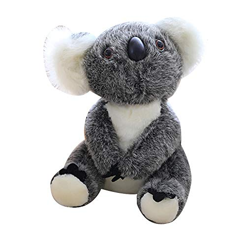 HeDIANz - Muñeca de peluche con forma de koala gris gris Talla:30 cm