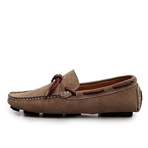 Minitoo Men's Casual, Komfort, Loafer Suede Boat Shoes Fashion-Mokassin Grau