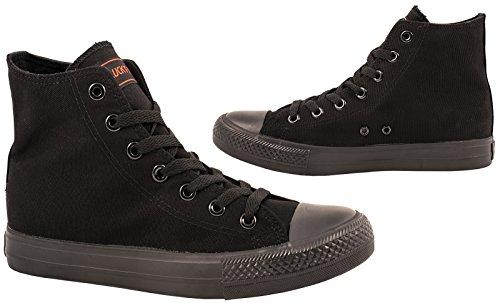 Sneaker Elara Unisex | Scarpe Sportive Da Uomo Donna | Scarpe Sneaker Alte In Tessuto Nero-nero
