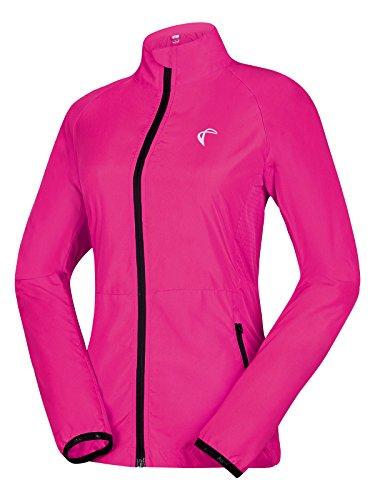 Runalp Regenjacke Damen Radfahr-/Lauf-Jacke Winddicht Fahrradfahren;langärmelig Schützt vor Wind Schnelltrocknend;Orange