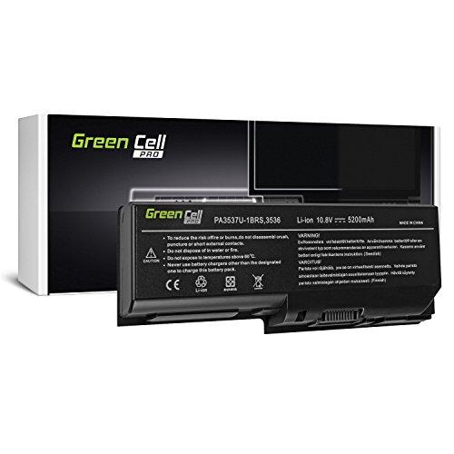 Green Cell® PRO Serie PA3536U-1BRS Laptop Akku für Toshiba Satellite L350 L350D P200 P200D P300 P300D X200 (Original Samsung SDI Zellen, 6 Zellen, 5200mAh, Schwarz)