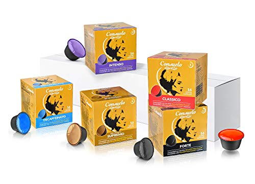 Consuelo - capsule compatibili dolce gusto* kit di assaggio, 80 capsule (16x5)