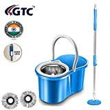 """GTC Plastic 360 Degree Spin Steel Mop Rotating Pole and Bucket""""No Foot Pedal"""""""