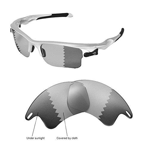 Walleva Ersatzgläser für Oakley Fast Jacket XL Sonnenbrille -Mehrfache Optionen (Übergang/photochrom - Polarisiert)