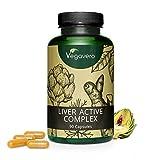 Suplemento para Hígado Vegavero® | Cúrcuma (95% Curcuminoides) + Alcachofa + Diente de León + Achicoria + Colina | 90 Cápsulas | 100% NATURAL | Sin Aditivos | Vegano