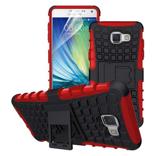 betterfon | Outdoor Handy Tasche Hybrid Case Schutz Hülle Panzer TPU Silikon Hard Cover Bumper für Samsung Galaxy A3 (2016) SM-A310 Rot