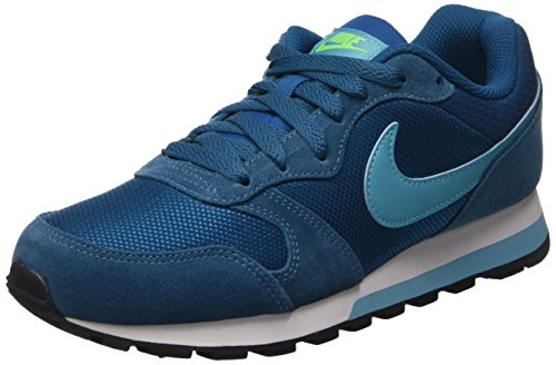 Nike Wmns Md Runner II, Damen Sneakers (Green Abyss/Gamma Blue/Electric Green White)