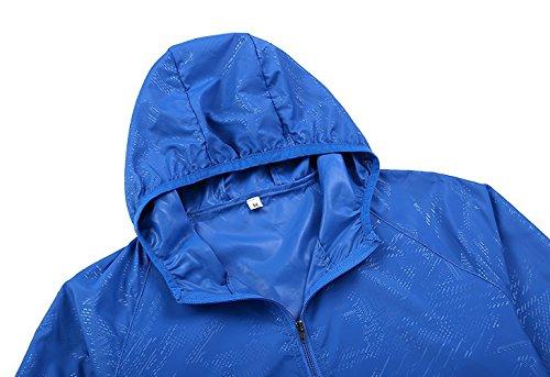 G-Fengshang Donna giacca a vento leggera corsa all'aperto UV proteggere pelle cappotto Apple Green