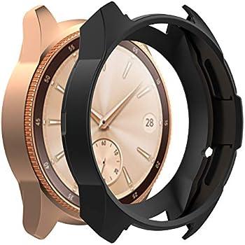 Mwoot Lot de 3 Coques pour Samsung Galaxy Watch 42MM, Anti-Rayures Housses (Étuis) Noir