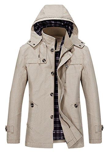 Vogstyle Uomo Nuova Giacca Casuale Con Cappuccio Cachi M fit(IT 48-50 (Nero Sport Coat Blazer)
