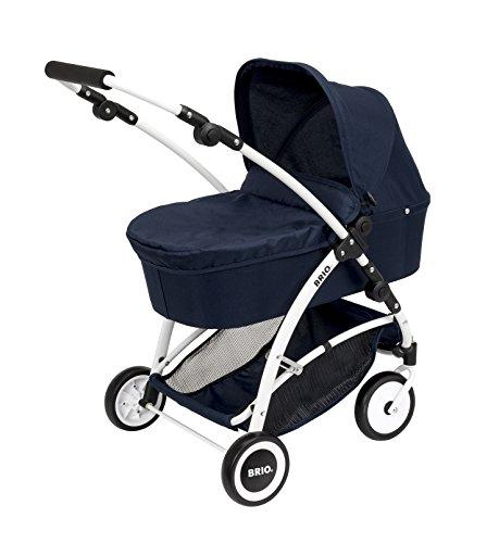 BRIO 24901000 - Puppenwagen Spin mit Schwenkrädern, blau