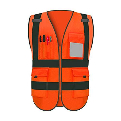 HAIT Reflektierende Weste Sicherheitsweste Verkehrsstörung Nachts Reisen Fluoreszierende Kleiderjacke,XL