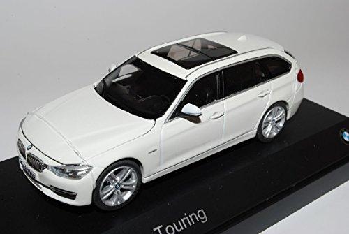 Preisvergleich Produktbild BMW 3er F31 Alpine Weiss Kombi Ab 2012 1/43 BMW Modell Auto mit individiuellem Wunschkennzeichen