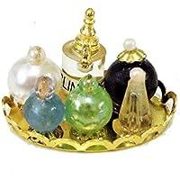 Puppenstuben & -häuser Puppenhaus Miniatur Schlafzimmer Badezimmer Zubehörset mit Damen Parfüm Flaschen