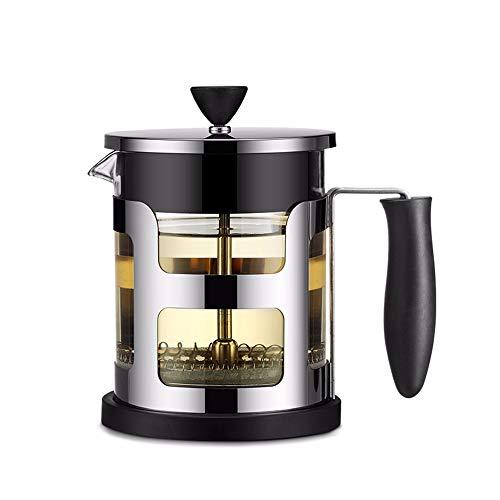 WWSUNNY Manuelle Kaffee Espresso Maker Topf Edelstahl Glas Teekanne Cafetiere Französisch Kaffee...