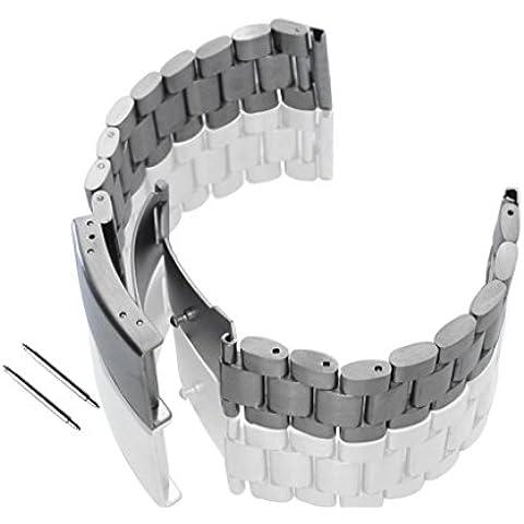 Lacaca pulsera banda de reloj de acero inoxidable para Motorola Moto 3602nd 42mm