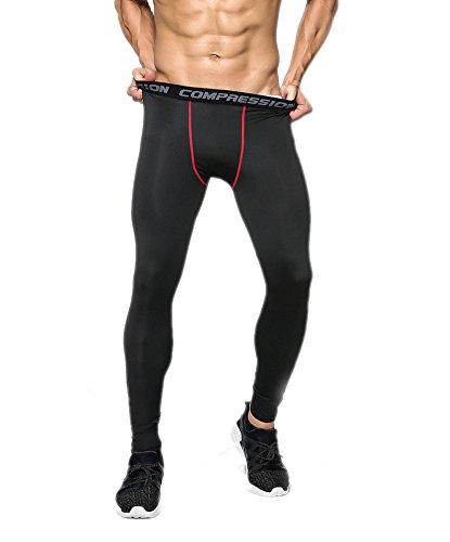 GGTFA Uomo Camuffamento Sport Leggings Compressione Strato di Base in Esecuzione di Basket Pantaloni Stretti Pantaloni Color G