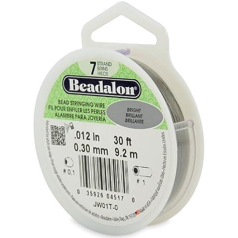 Beadalon - Filo metallico per bigiotteria a 7 strati, diametro: 30 mm, lunghezza: 9,2 m