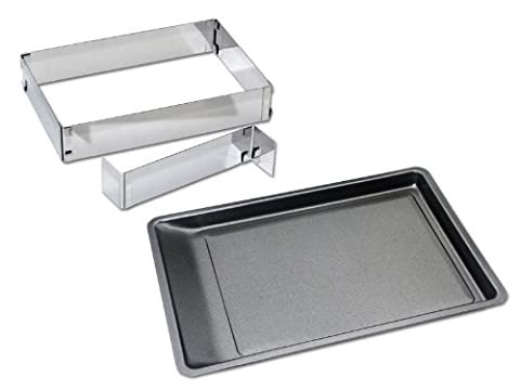 Chg 9854-07 Backing Set 3-Piece /Baking Tray Approx. 42 X 29 Cm / Cake Frame With Spreader, Infinitely