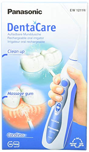 Panasonic EW1211W - Irrigateur Oral Recargable Dentacare, Blanco/Azul