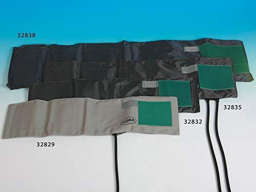 GIMA Armband NYLON + POLMONE aus TPU - grau/schwarz - Erwachsene - 2 Schläuche