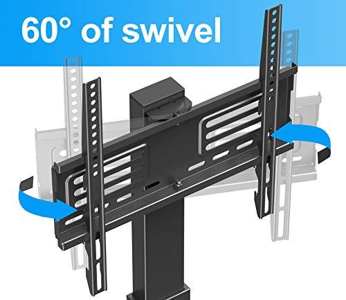 41IvXdm 2YL - FITUEYES Soporte Giratorio de Suelo para TV de 27-55 Pulgadas Altura Ajustable Soporte de Televisión LCD LED OLED Plasma Plano Curvo TT106001MB
