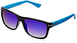 Tommy Hilfiger Mirrored Wayfarer Unisex Sunglasses - (801 C4 S|55|Blue Color)